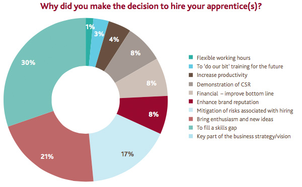 Motives to hire apprentices