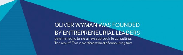 Oliver Wyman founden by entrepreneurial leaders