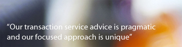 Our transaction services advice is pragmatic and our focused approach is unique