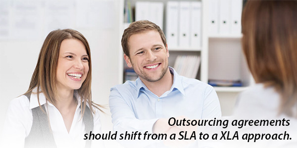 Outsourcing agreements should shift from a SLA to a XLA approach