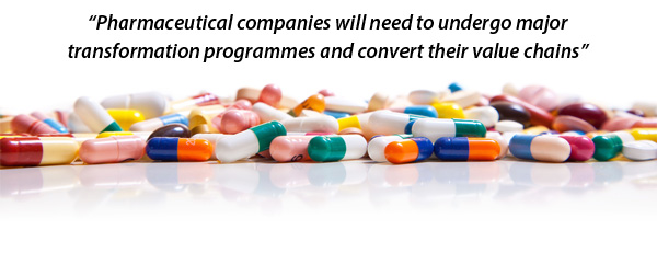 Pharmaceutical companies will need to undergo major transformation progammes