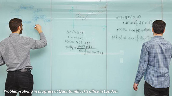 Problem-solving in progress at QuantumBlacks office in London