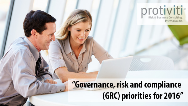 Protiviti - GRC priorities for 2016