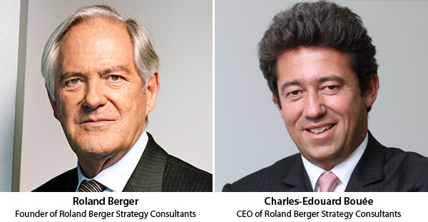 Roland Berger and Charles-Edouard Bouee