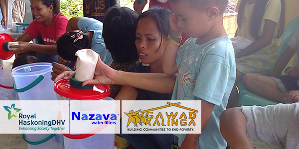Royal HaskoningDHV offers water filters to Philippines