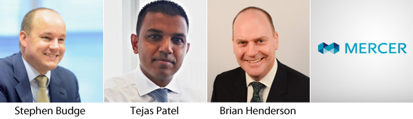 Stephen Budge, Tejas Patel and Brian Henderson - Mercer