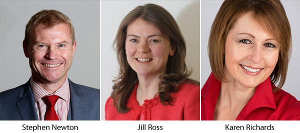 Stephen Newton - Jill Ross - Karen Richards