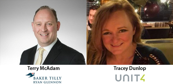 Terry McAdam and Tracey Dunlop