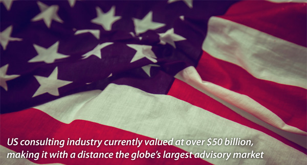 US consulting industry vurrently valued at over 50 billion