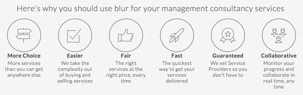 Why use blur for your management consultancy services