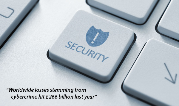Worldwide losses stemming from cybercrime